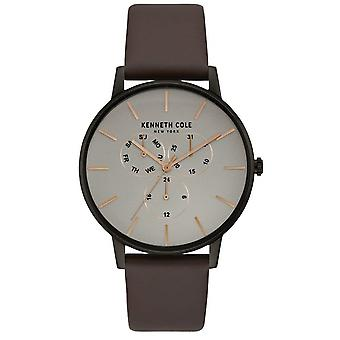 Kenneth Cole Leather Chronograph Mens Watch KC50008002