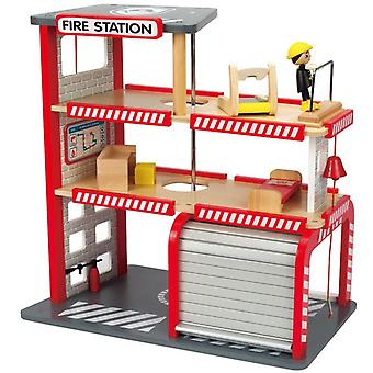 Hape-Fire Station-Wooden Playset