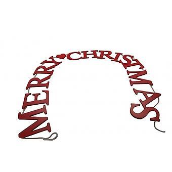 Gisela Graham Red Merry Christmas Decorative Garland