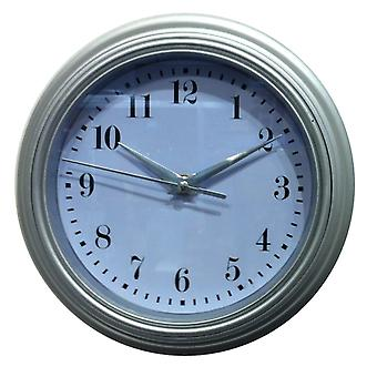 Watch out wall silver d22 wall clock