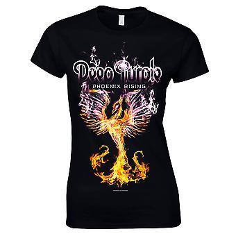 Profundo púrpura-Phoenix Rising camiseta, las mujeres