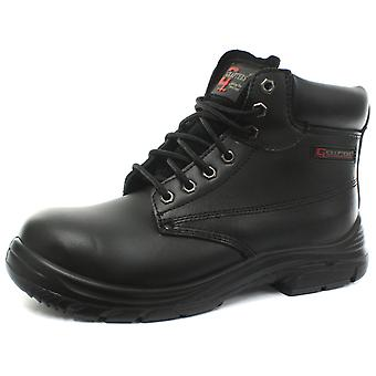 Grafters M9503A Wide Fit Mens Leather Safety Boots