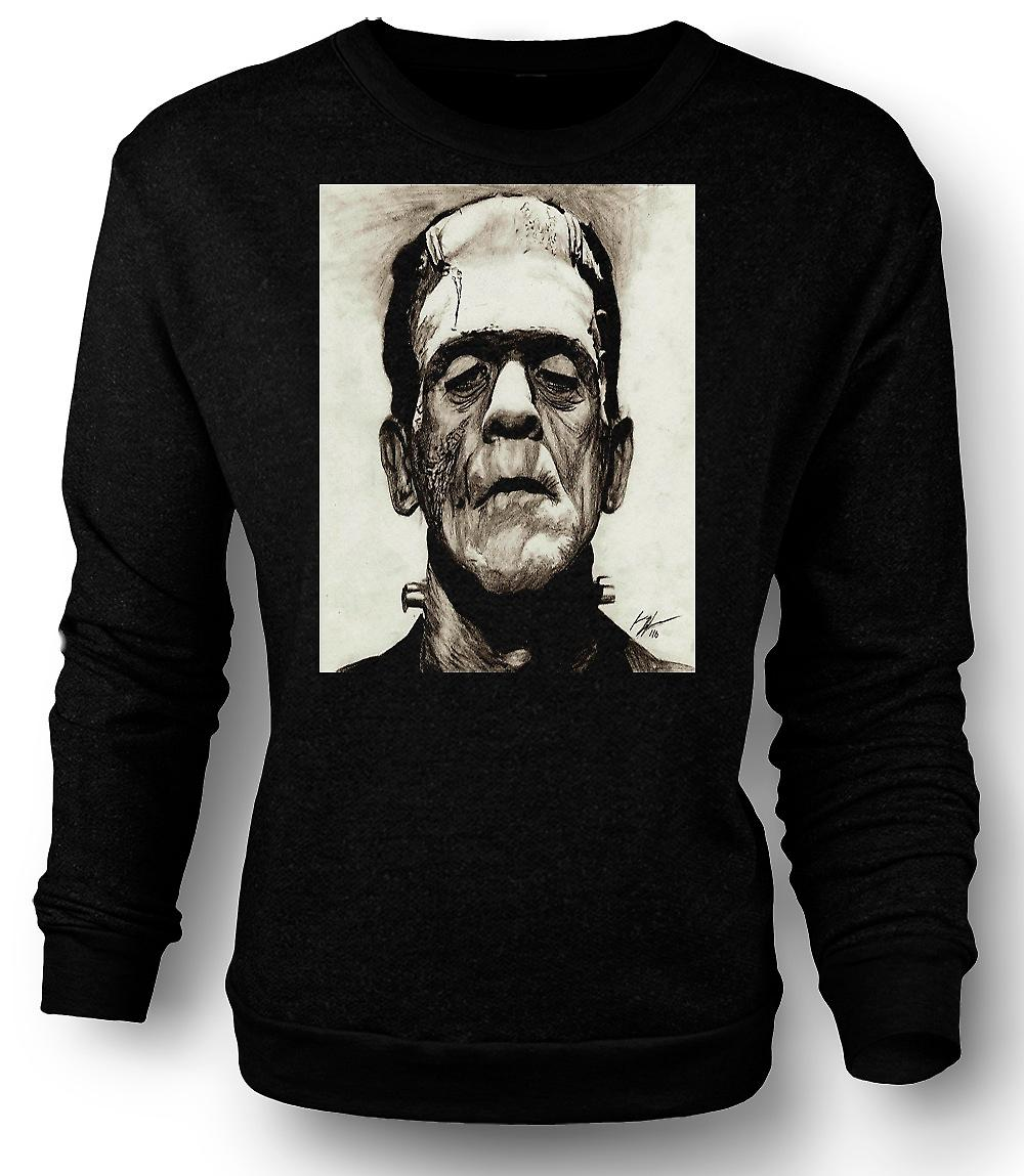 Mens Sweatshirt Frankenstein Sketch - Horror