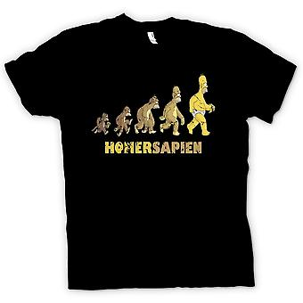 Heren T-shirt - Homersapien - evolutie van Homerus