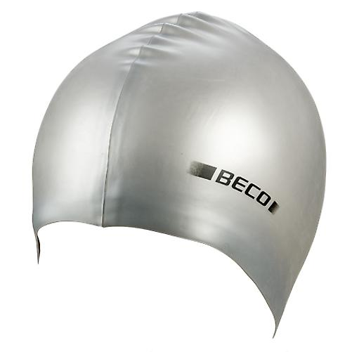 BECO Metallic Silicone Swimming Cap -Silver