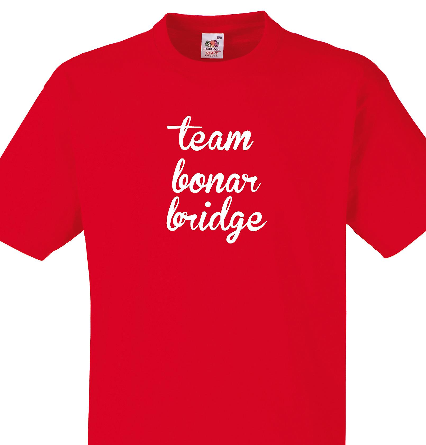 Team Bonar bridge Red T shirt
