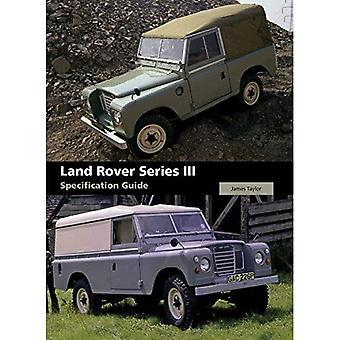 Guia de especificação do Land Rover série III