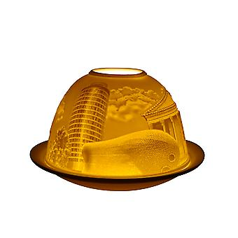 Light Glow Dome Tea Light Holder, Birmingham