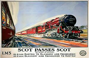 Scot Passes Scot (old rail ad.) fridge magnet