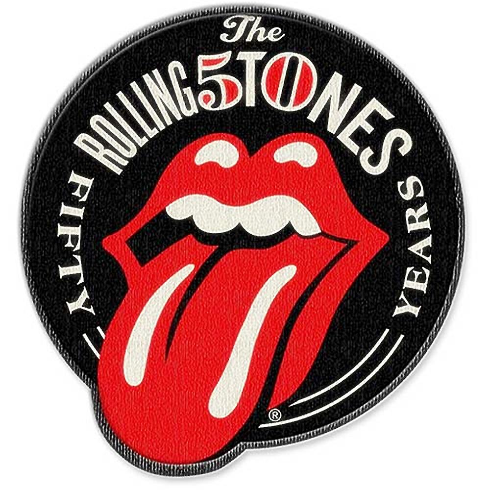 Rolling Stones 50th Anniversary iron-on / sew-on patch  (ro)