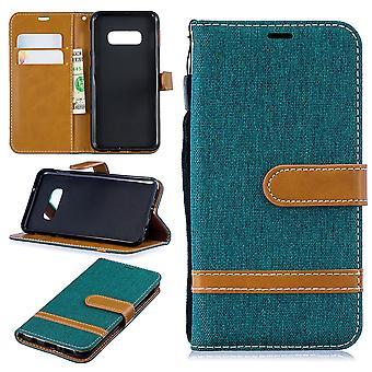 Couverture de carte verte Samsung Galaxy S10e téléphone affaire sac protecteur housse Etui pochette portefeuille
