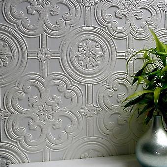 Paintable Wallpaper Embossed Textured Luxury Vinyl Easy Apply Egon Anaglypta