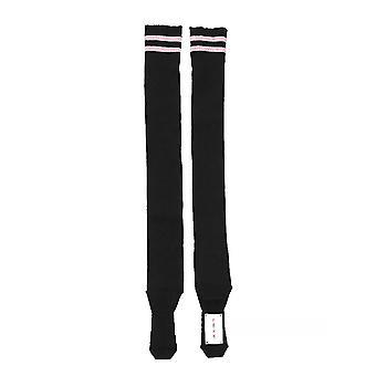 Alberta Ferretti Black Wool Socks