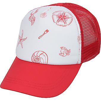 Roxy Girl x Disney Little Mermaid Ocean Town Trucker Hat - Rococco Red