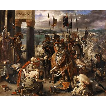 The Capture of Constantinople by the, Eugene Delacroix, 50x40cm