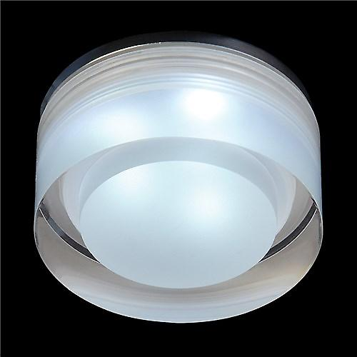 Endon EL-IP-8000 Recessed Led Bathroom Shower Downlight With Round Acrylic Glass