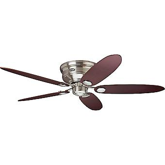 Ceiling Fan Hunter LOW PROFILE Brushed Chrome