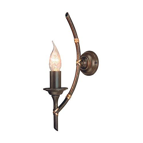 Elstead BB1 BRZ PATINA Bamboo Single Arm Wall Light with Optional GS153 Glass