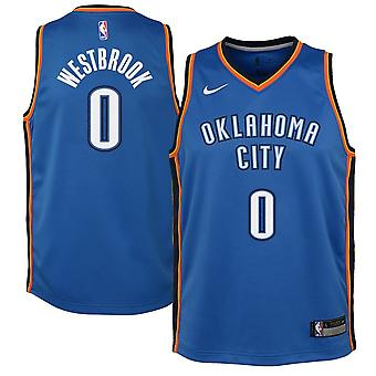 Nike Nba Oklahoma City Thunder Russell Westbrook Youth Swingman Jersey - Icon Edition