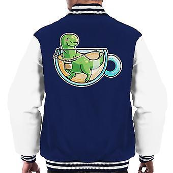 Tea Rex Dinosaur Men's Varsity Jacket