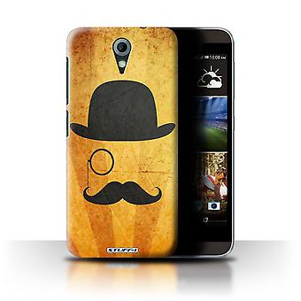 STUFF4 Case/Cover for HTC Desire 820 Mini/Bowler/Monocle/Retro Moustache