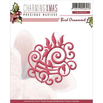 Find It Trading Precious Marieke Charming Christmas Die-Bird Ornament PM10038