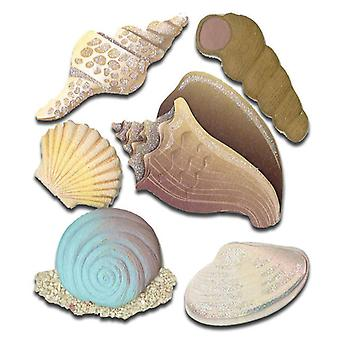 Jolee's Boutique Dimensional Stickers Seashells Spjb 550
