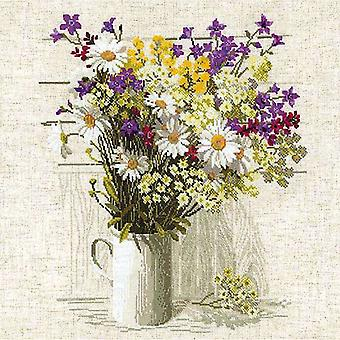 Wildflowers Counted Cross Stitch Kit 17.75