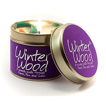 Lily Flame Scented Candle in a presentation Tin - Winter Wood