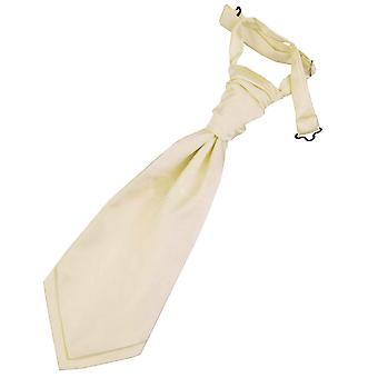 Boy's Champagne Plain Satin  Wedding Cravat