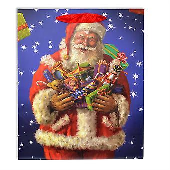 1 x små klassiska lyxiga jul gåva väska stark papperspåsar