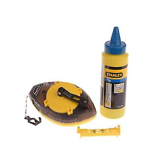 Stanley 30m Chalk Line with Chalk & Line Level