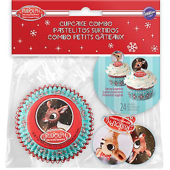 Cupcake Combo Pack-Rudolph The Red Nosed Reindeer 24/Pkg W7010