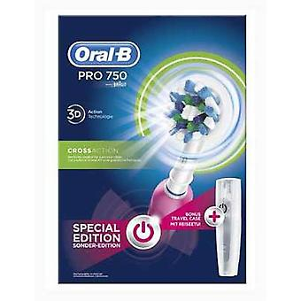 Braun Toothbrush Oral - B Cross Action Pro750 Rosa (Woman , Esthetics , Dental beauty )