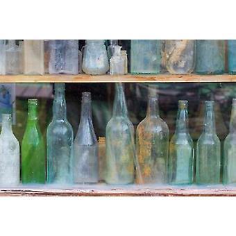 Alte Flaschen ich Poster Print von Kathy Mahan