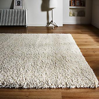Athena Shaggy Rugs In Ivory