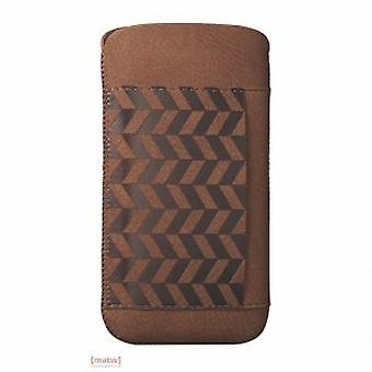 Ozaki OC551LA iCoat nature Lakes leather case iPhone 5 5 S Brown