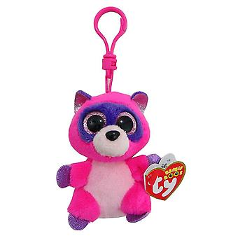 TY Beanie Boo Key Clip Roxie the Racoon
