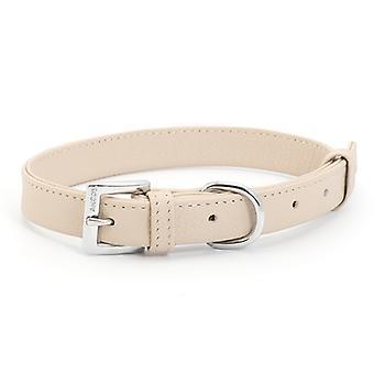 Indulgence Folded Leather Collar Truffle 25mm X46-56cm