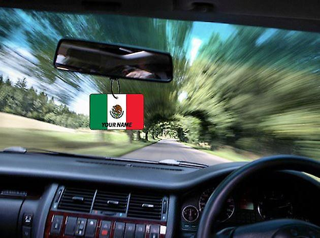 Mexico Flag Personalised Car Air Freshener
