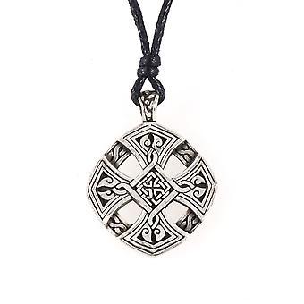 Handgjorda Keltiskt kors liv tenn hänge