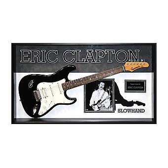 Eric Clapton Autographed Slowhand Signed Guitar in Framed Case