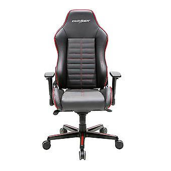 DX Racer DXRacer OH/DJ188/NR High-Back Luxury Office Chairs Full Grain Leather(Black/Red)