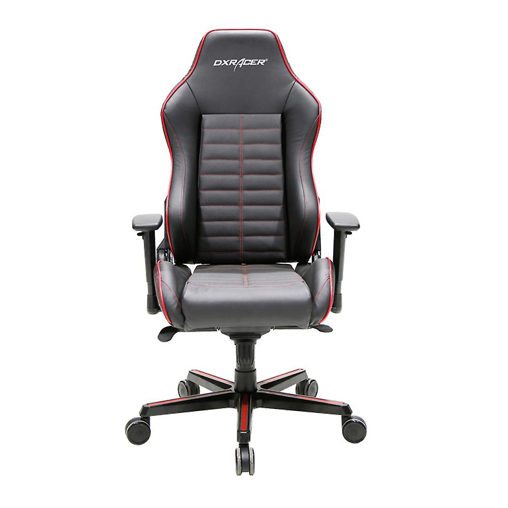 DX Racer DXRacer OH/DJ188/NR High-Back Luxury Office Chairs Full Grain Leather(Black/Red)