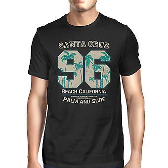 Santa Cruz Beach Kalifornien män svarta T-shirt Kortärmad sommaren