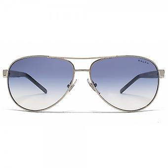 Ralph di Ralph Lauren Occhiali da sole Aviator In Light Silver Blue