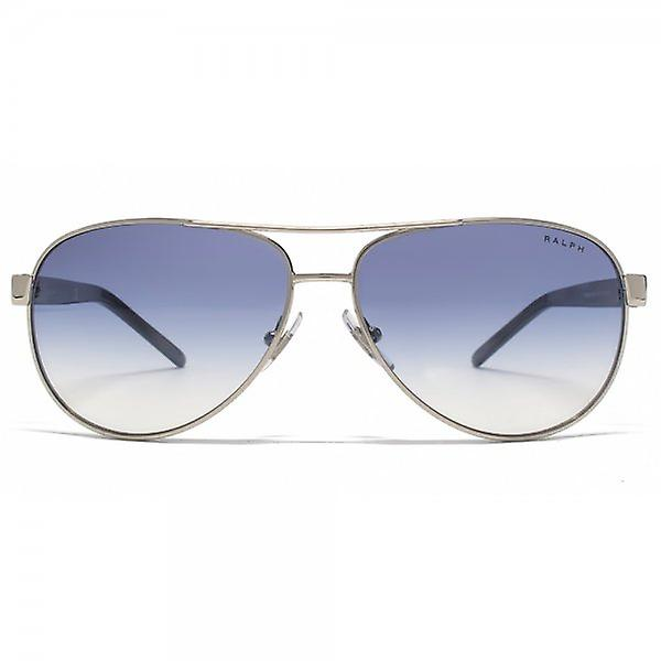 Ralph By Ralph Lauren Aviator Sunglasses In Light Silver Blue