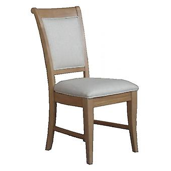Classic Loire Oak Upholstered Dining Chair X2