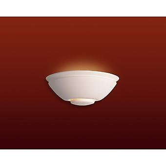 Firstlight Minimalist Art Deco Zen Matt White Wall Uplighter