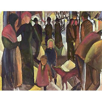 August Macke - Crowd Poster Print Giclee